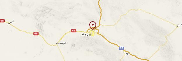 Carte Birjand - Iran