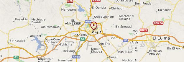 Carte Sétif - Algérie