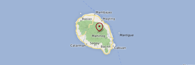 Carte Camiguin Island - Philippines