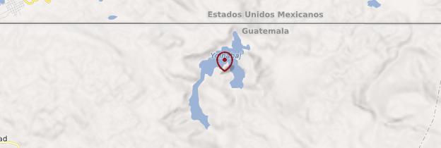 Carte Laguna Yolnajab - Guatemala