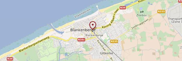 Carte Blankenberge - Belgique