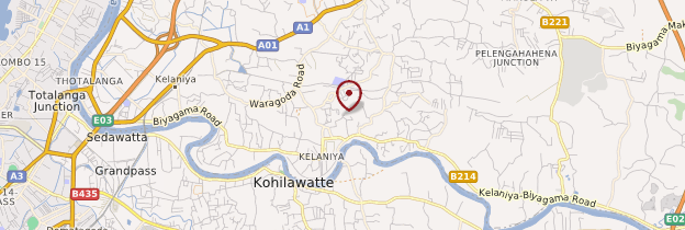 Carte Kelaniya - Sri Lanka