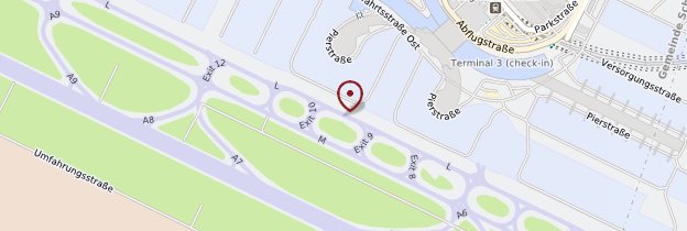Carte Aéroport international de Vienne-Schwechat - Vienne