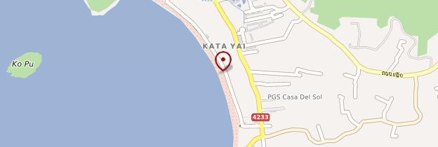 Carte Kata Beach - Thaïlande
