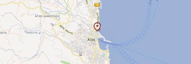 Carte Chios (ville) - Îles grecques