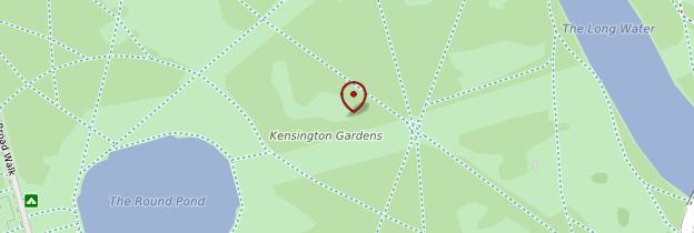 Carte Kensington Gardens - Londres