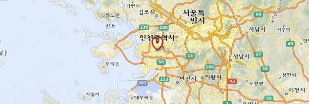 Carte Incheon - Corée du Sud