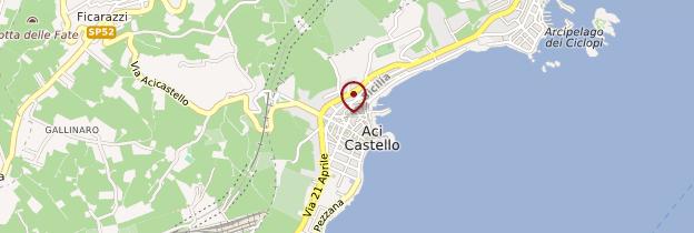 Carte Aci Castello - Sicile