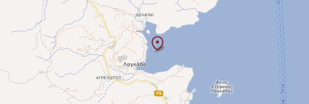 Carte Langada - Îles grecques