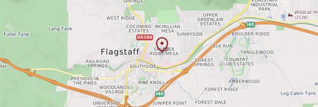 Carte Flagstaff - Parcs nationaux de l'Ouest américain