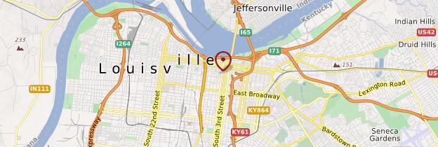 Carte Louisville - États-Unis