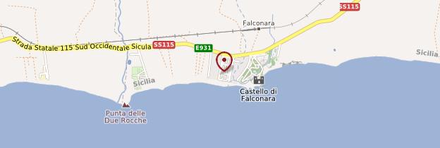 Carte Falconara - Sicile