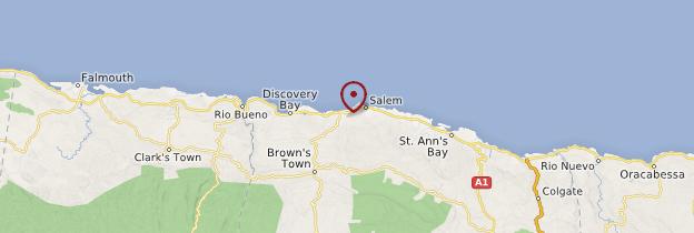 Carte Runaway Bay - Jamaïque