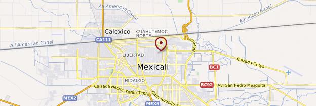 californie mexique carte