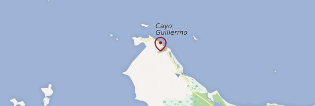Carte Cayo Guillermo - Cuba
