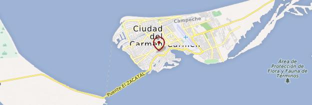 Carte Ciudad del Carmen - Mexique