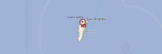 Carte San Andres (Ile) - Colombie