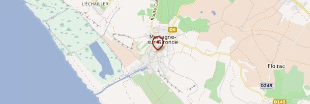 Carte Mortagne-sur-Gironde - Poitou, Charentes