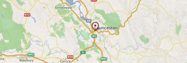 Carte Launceston - Tasmanie