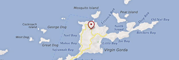 Carte Virgin Gorda - Îles Vierges britanniques