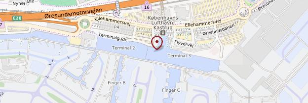 Carte Aéroport de Copenhague - Copenhague