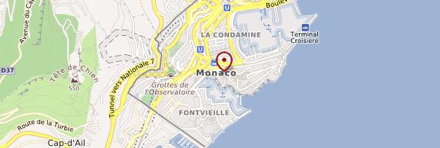 Carte Principauté de Monaco - Côte d'Azur