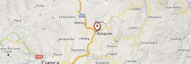 Carte Azogues - Équateur