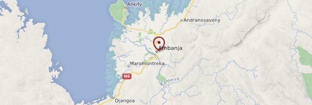 Carte Ambanja - Madagascar