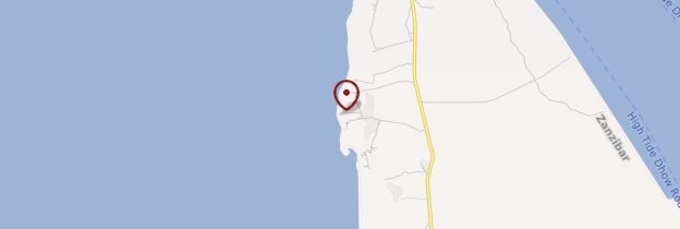 Carte Plage de Kendwa - Zanzibar