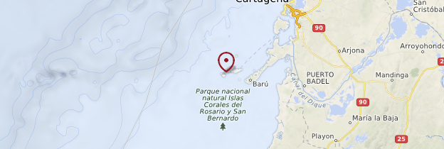 Carte Islas del Rosario - Colombie