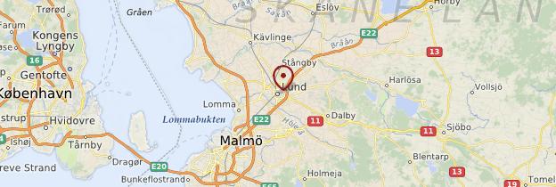 Carte Lund - Suède