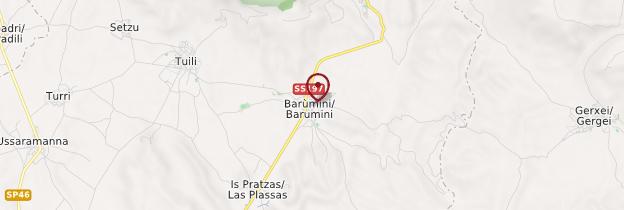 Carte Barumini - Sardaigne
