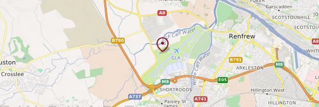 Carte Aéroport de Glasgow - Écosse