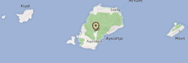 Carte Île de Agistri - Îles grecques