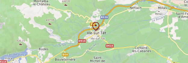 Carte Ille-sur Têt - Languedoc-Roussillon