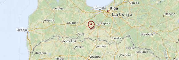 Carte Zemgale - Lettonie