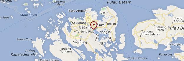 Carte Batam - Indonésie