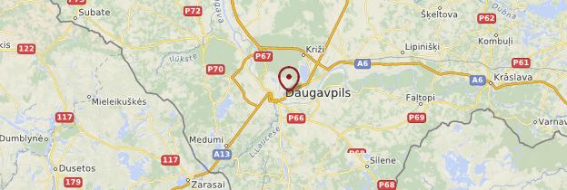 Carte Daugavpils - Lettonie