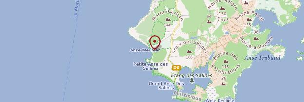 Carte Anse Meunier - Martinique