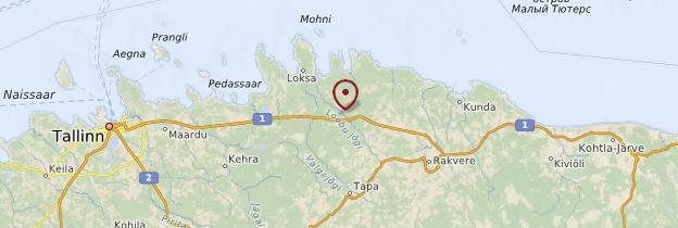 Carte Parc national de Lahemaa - Estonie