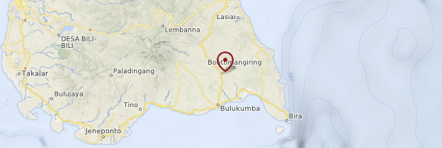 Carte Bulukumba - Indonésie