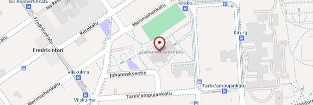 Carte Eglise Saint-Jean d'Helsinki - Finlande