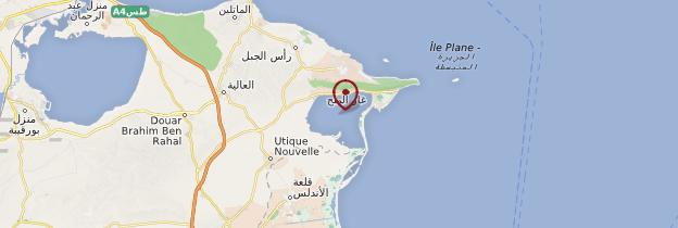 Carte Ghar-el-Melh - Tunisie