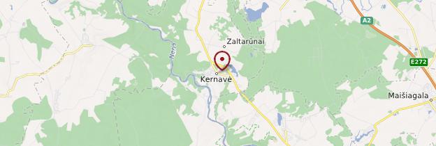 Carte Kernavé - Lituanie