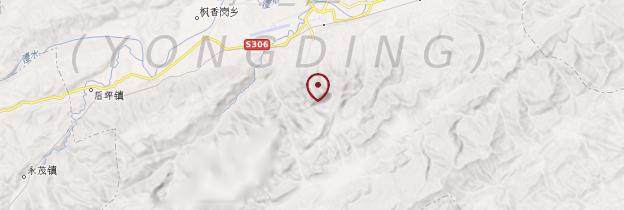 Carte Parc naturel de Zhangjiajie - Chine