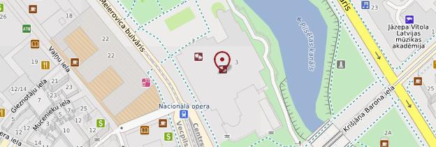 Carte Opéra de Riga - Lettonie