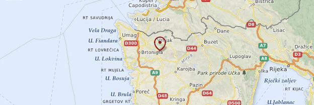 Carte Groznjan - Croatie