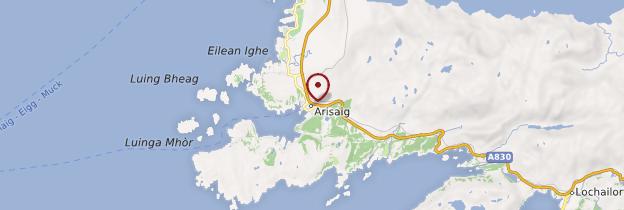 Carte Arisaig - Écosse