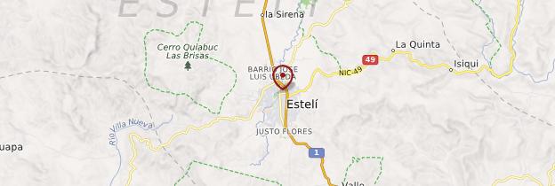 Carte Estelì - Nicaragua