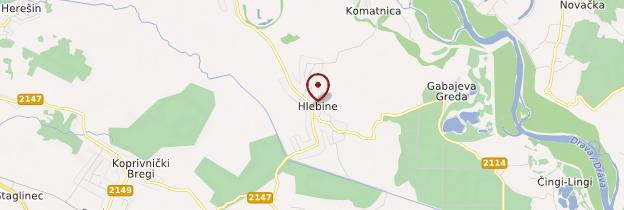 Carte Hlebine - Croatie